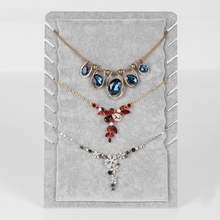 Wholesale 2 Gray Ice Velvet Necklace Display Stand Board For 8 Pcs(China)