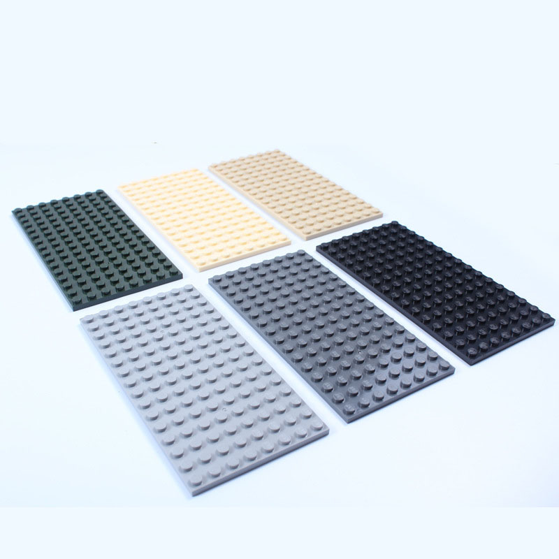 1pcs Small Blocks Base Plate 8*16 Dots  Building Blocks DIY Baseplate for Minifigures Compatible with Blocks<br><br>Aliexpress