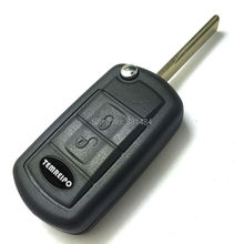 Replacement folding remote control key shell 3 button car key blank for Land Rover Range Rover Rover discovery key case