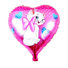 Free Shipping mary cat balloons helium foil balloon metallic balons for decoracao festa infantil wedding balloon baby shower(China)
