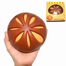 1PCS Original Chocolate Bun Squishy Slow Rising Cute Jumbo Bread Simulate Cake Phone Straps Charms Scented Fun Kid Toy Gift