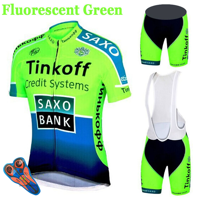 Bike Jersey Short-Sleeve Cycling Clothing Bicycle Tinkoff Ropa-Ciclismo MTB Saxo-Bank title=