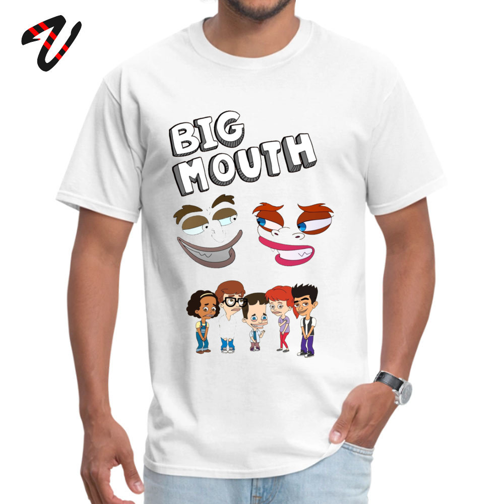 Design T Shirt Prevailing Short Sleeve Young T Shirts TpicOriginaltitle Simple Style April FOOL DAY Tops Shirts Crew Neck Big Mouth Monsters16284 white