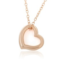 Dawapara 1 pc Heart Shape Choker Necklaces & Pendants Women Jewelry Gold and Rhodium Plated To Choose With Link Chain For Gifts(China)