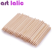100 Pcs Nail Art Design Orange Wood Stick Sticks Cuticle Pusher Remover Manicure Pedicure Care(China)