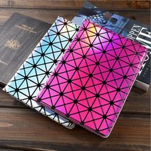 case for ipad mini 1 2 3 Colorful Bling Laser Diamond Flip Stand Leather Smart Cover For apple ipad mini case Tablet Accessories(China)