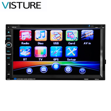 2 Din HD 6.95 inch Touch Screen Car Monitor DVD Player Stereo Car auto Radio MP5 GPS Navigation Support Rear View Camra 6080G