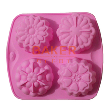 creative DIY Mold handmade soap mold flower silicone cake mold heat resistant easy demoulding CDSM-032(China)