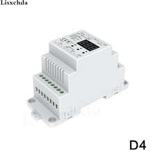 New 4 CH Constant Voltage DMX512 Decoder;DC5-36V input;5A*4CH output with display for setting dmx address