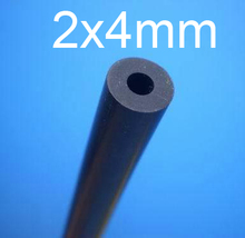 2mm ID 4mm OD 2x4mm fluororubber tube,VITON rubber tube,Fluorine rubber hose Oil resistant solvent corrosion resistance pipe(China)