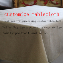 customize tablecloth Linen nappe rectangulaire Decorate home wedding tablecloth on the table round table cloth(China)