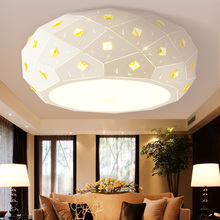 Simple Round LED circular ceiling lamps romantic bedroom lamp children room cloakroom girl Princess modern lamp ZA FG103(China)