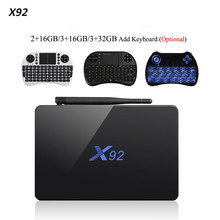 X92 2.4GHz / 5.8GHz WiFi Amlogic S912 Octa-core TV Box Cortex-A53 Real-time Display TV Online Player HD 2.0a Connectivity Media(China)