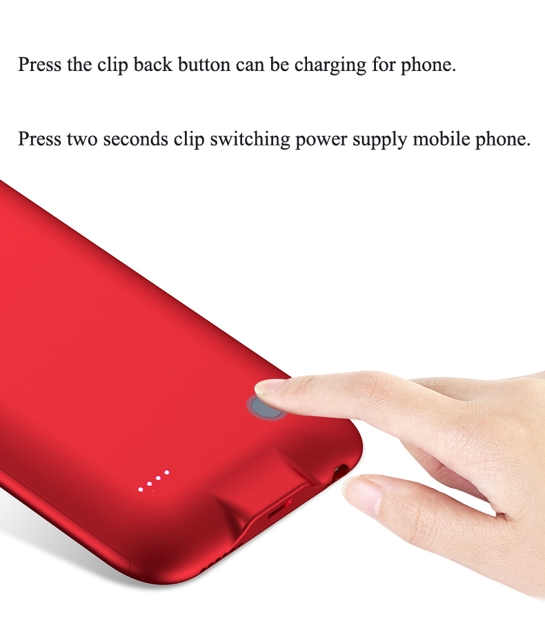 Battery Charger Cases For iPhone 6 6s NH-B012 Details (04) Nohon Battery Charger Cases For Apple iPhone 6s 6