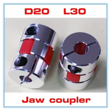 2pcs 4/5/6/6.35/7/8/10mm 5mm to 8mm shaft coupling 5x8mm Flexible Jaw spider plum coupler Diameter=20mm length=30mm(China)