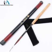 3.6M / 12FT Tenkara Rod with Spare Tip Telescoping Fly Fishing Rod Graphite Fishing Pole & Carbon Tube