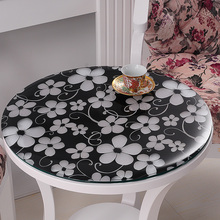 1 pcs round transparent PVC table cloths for coffee table soft glass waterproof table covers party europe decoration table mats