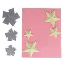 3pcs/set card Stars Customized Metal Cutting Dies Stencils for Scrapbooking/photo album Embossing DIY Craft Paper Die