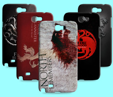 Ice and Fire Cover Relief Shell For Samsung Galaxy Note I9220 Cool Game of Thrones Phone Cases For GALAXY Note 2 N7100(China)