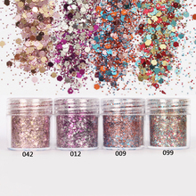 Nail 1 Jar/Box 10ml Nail Pink Rose Mix Color Mix Nail Glitter Powder Sequins Powder for Gel Nail Decoration 300 Colors 4-72(China)