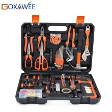 Buy GOXAWEE 120pcs Hand Tool Set General Household Hand Tool Kit Plastic Toolbox Hammer Plier Screwdriver Knife Wrench Saw for $94.71 in AliExpress store