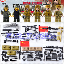DR.TONG Building BlocksThe Korean War Military Scenes National Liberation Army VS US Army Figures Set DIY Bricks Toys D71008