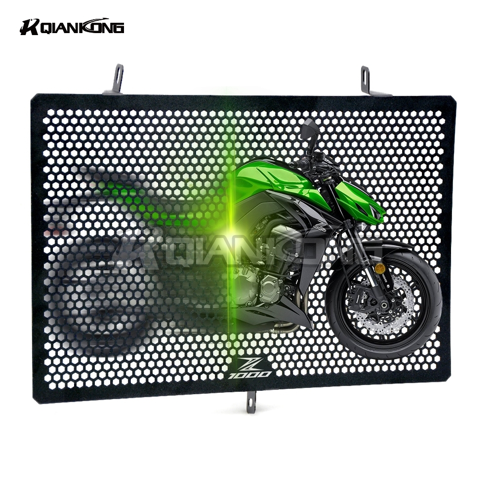 R QIANKONG Stainless Steel Radiator Grille Guard Protection FOR Kawasaki Z1000 (ZRT00D) 2010-2013 NINJA1000 (Z1000SX) 2011-2017<br>