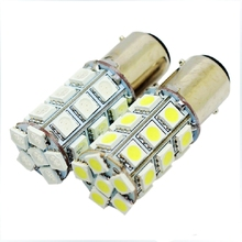 1pcs 1157 P21/5W BAY15D 27 SMD 5050 LED Auto strobe flash Red light 27smd White Car Parking lights Tail Lamp Rear Bulb 12V