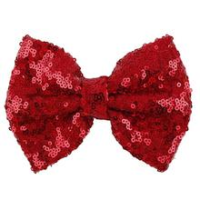 Baby Toddler Kids Head Hair Acessories For Girls Cute Bow Shining Butterfly Hair Clip Sequin Bow(China)