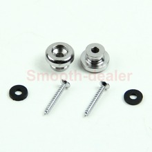 2 Chrome Strap Button Locks Screws washer Replacement part for Mandolin Guitar