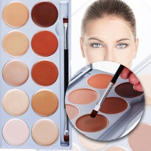 DE'LANCI 10 Color Contouring Makeup Kit Cream Based Professional Concealer Palette Face Make up Set Pro Palette High-end Formula(China)