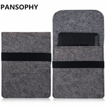 For Kindle Touch E-Readers New for Amazon Kindle Paperwhite 1/2/3 voyage Slim Wool Felt Bag  Ebooks Tablet Case Size Under 6""