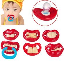 Baby funny pacifier baby fashion accessories Liquid silicone teat Dentures silicone pacifier Teether nipple S18