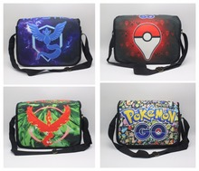 GAME Pokemon GO Poke ball Team Valor Moltres Shoulder Bag School Bag printed Messenger Bags Unisex Student Satchel 5 style(China)