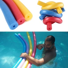 Practical 6*150cm Portable Floating Swimming Pool Noodle Swim Kickboard Water Float Aid Woggle Noodles Hollow Learn Foam