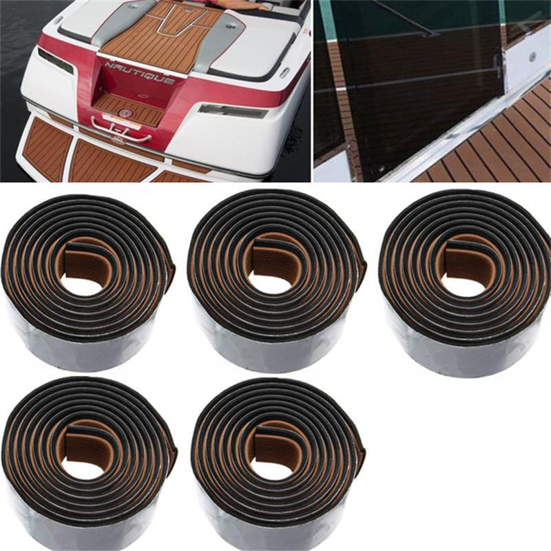 8PCS-Self-Adhesive-EVA-Boat-Yacht-Flooring-Faux-Imitation-Teak-Decking-Sheet-Pad-58x2400x5mm-Foam-Floor