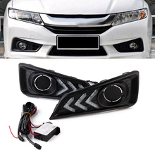 Car LED Day Light DRL Daytime Running Lights Driving Lamp 12V For Honda City 2015-2017 Free Shipping(China)