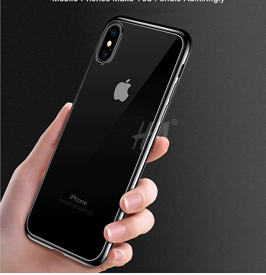 H&A Tpu Soft Silicone transparent case For iphone X 10 cover For iphone 10 X cover case