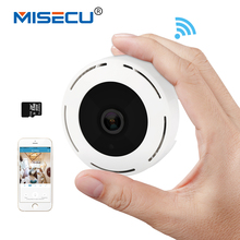 MISECU H.264+ Wi-Fi SD card 3D VR 960P 360 degree Fisheye IP Wireless Camera Audio P2P Motion email alert Night Vision IR CCTV(China)