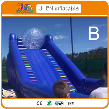 sea shipping inflatable zorb ball slide for sale / high quality inflatable slide come with zorb ball / inflatable game