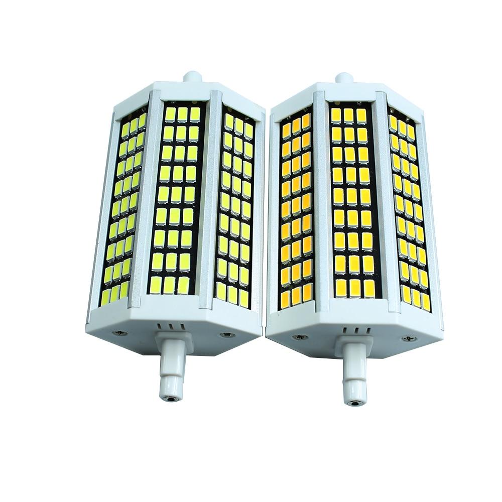 R7S LED corn Bulb 118mm 81leds AC85-265V SMD5730 black PCB high brightness led indoor lighting Energy saving spot lamp<br><br>Aliexpress