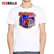 REDBELLA USA Pop Culture Fashion Tshirt Men Cool Car Design Hipster Geek Vintage 90s Camiseta Hombre Popular Printed Tee Shirt(China)