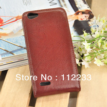 5A Real Leather Case for Jiayu G4 Flip Flap Covers Brown Colour For Thick Battery Phone