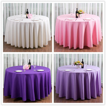 Simple Beach Wedding Decoration Soild Round Table Cloth Pink Purple Violet white Anniversary bomboniere matrimonio Party Setting