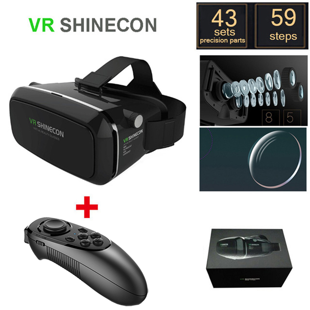 3D VR BOX Virtual Reality Immersive Glasses Google Cardboard All-In-One 3D Game Video Movie Vrbox Case Android Goggles Helmet