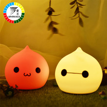 Coversage Led Motion Sensor USB Charging Colorful Children Animal Night Light Soft Cartoon Baby Kids Bedroom Child Sleeping Lamp(China)