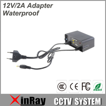 New Waterproof Power Adapter DC12V 2A Power Supply For CCTV Camera Wall Hanging Outdoor Power Adapter XR-PA3(China)