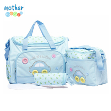 4 Colors 4PCS/Set High Quality Tote Baby Shoulder Diaper Bags Durable Nappy Bag Mummy Mother Pink/Blue/Yellow Baby Bags for mom(China)