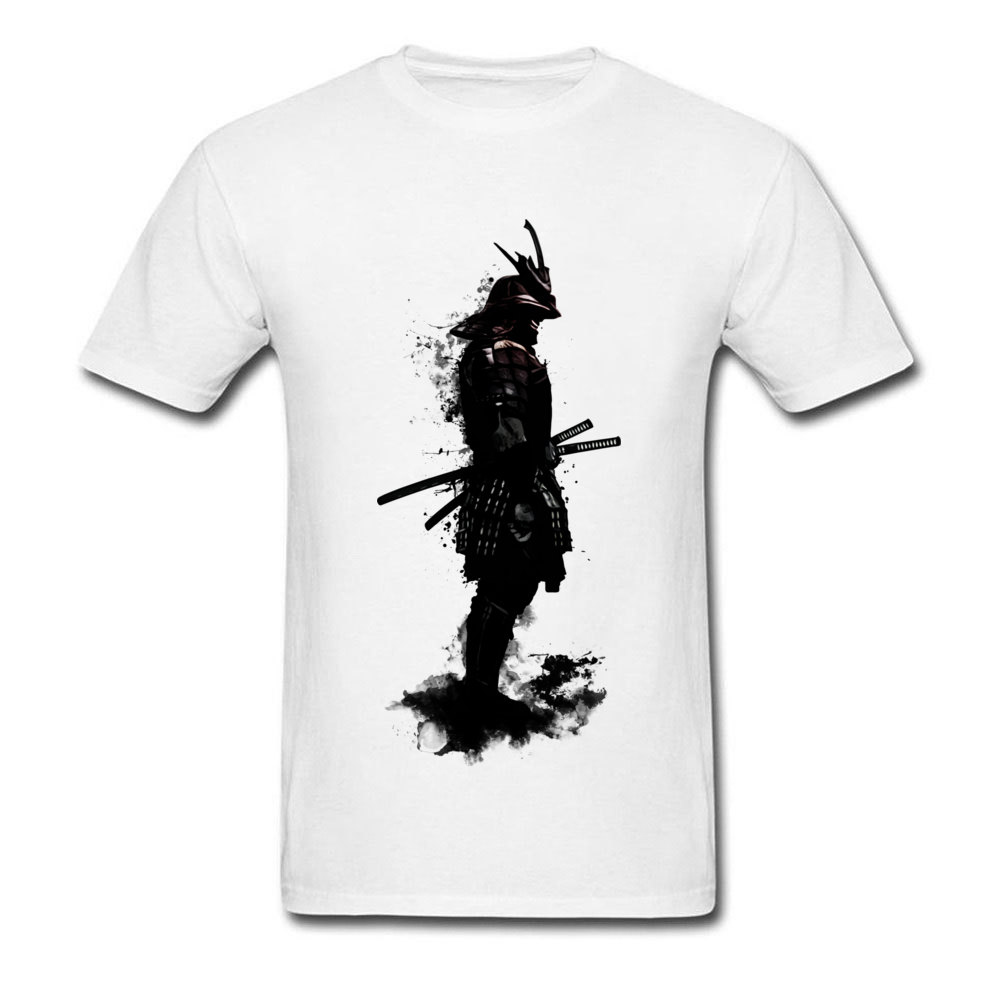 Armored Samurai Simple Style Tees Short Sleeve for Men 100% Cotton Fabric ostern Day O Neck Top T-shirts Design T Shirt Hip Hop Armored Samurai white