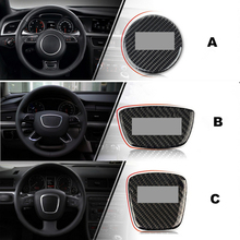 Black Carbon fiber Steering wheel decoration decal car interior accessories For Audi A4 A1 A3 A5 A6 A7 Q7 Q5 Q3